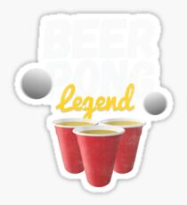 Funny Vintage Style Beer Drinking | Beer Pong Legend Sticker