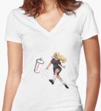 Vinylone sticker Women's Fitted V-Neck T-Shirt