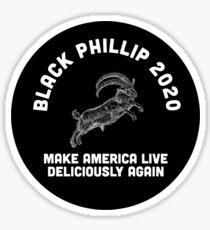 The Witch - Black Phillip 2020 Make America Live Deliciously Again Sticker