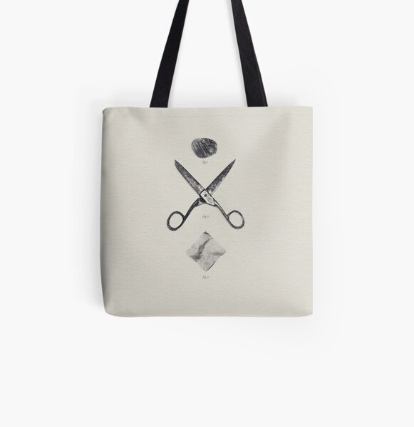 ROCK / SCISSORS / PAPER Allover-Print Tote Bag