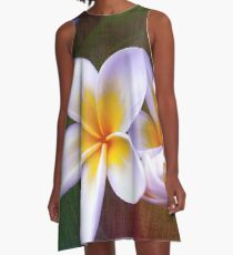 Fragrant Frangipani A-Line Dress