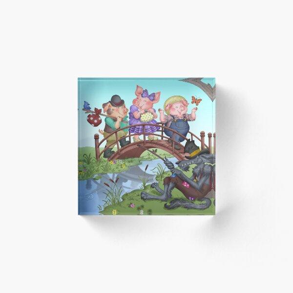Three Little Pigs Acrylic Block