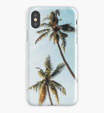 Tropical landscape palms, Sky, Nature print iPhone Case/Skin