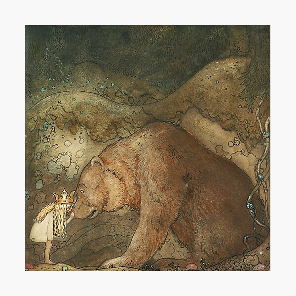 Poor Little Basse by John Bauer Photographic Print