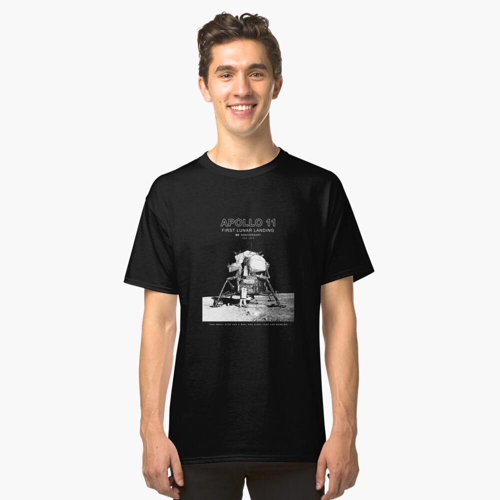 Apolo 11 - 50 ° aniversario 1969-2019 - Aterrizaje lunar - Luna Camiseta clásica