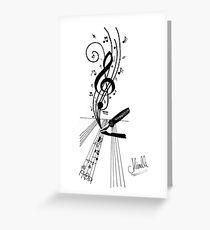 Writing music Greeting Card