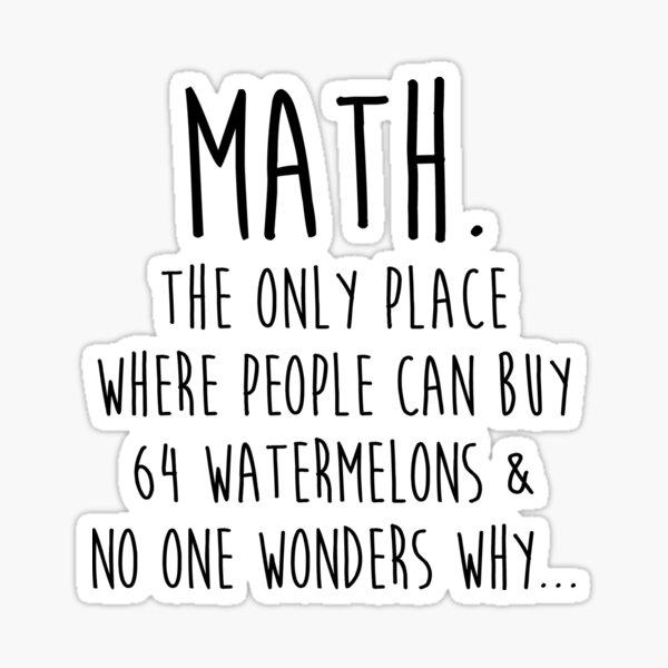 Math.  Sticker