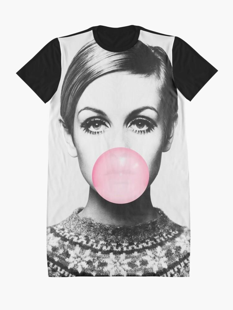 Alternate view of Twiggy print, celebrity, Scandinavian, Nordic, Trendy print, Styled, Scandinavian art, Modern art, Wall art, Print, Minimalistic, Modern Graphic T-Shirt Dress