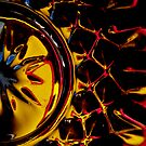 Abstract inside my drinking glass by Loreto Bautista Jr.