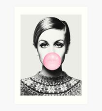 Twiggy print, celebrity, Scandinavian, Nordic, Trendy print, Styled, Scandinavian art, Modern art, Wall art, Print, Minimalistic, Modern Art Print