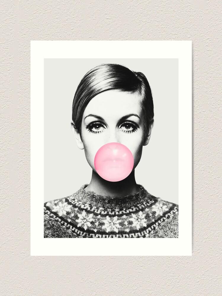 Alternate view of Twiggy print, celebrity, Scandinavian, Nordic, Trendy print, Styled, Scandinavian art, Modern art, Wall art, Print, Minimalistic, Modern Art Print