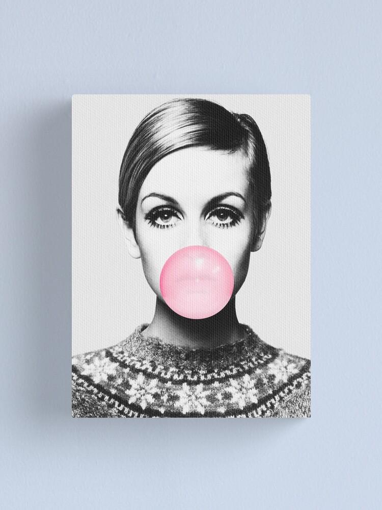 Alternate view of Twiggy print, celebrity, Scandinavian, Nordic, Trendy print, Styled, Scandinavian art, Modern art, Wall art, Print, Minimalistic, Modern Canvas Print