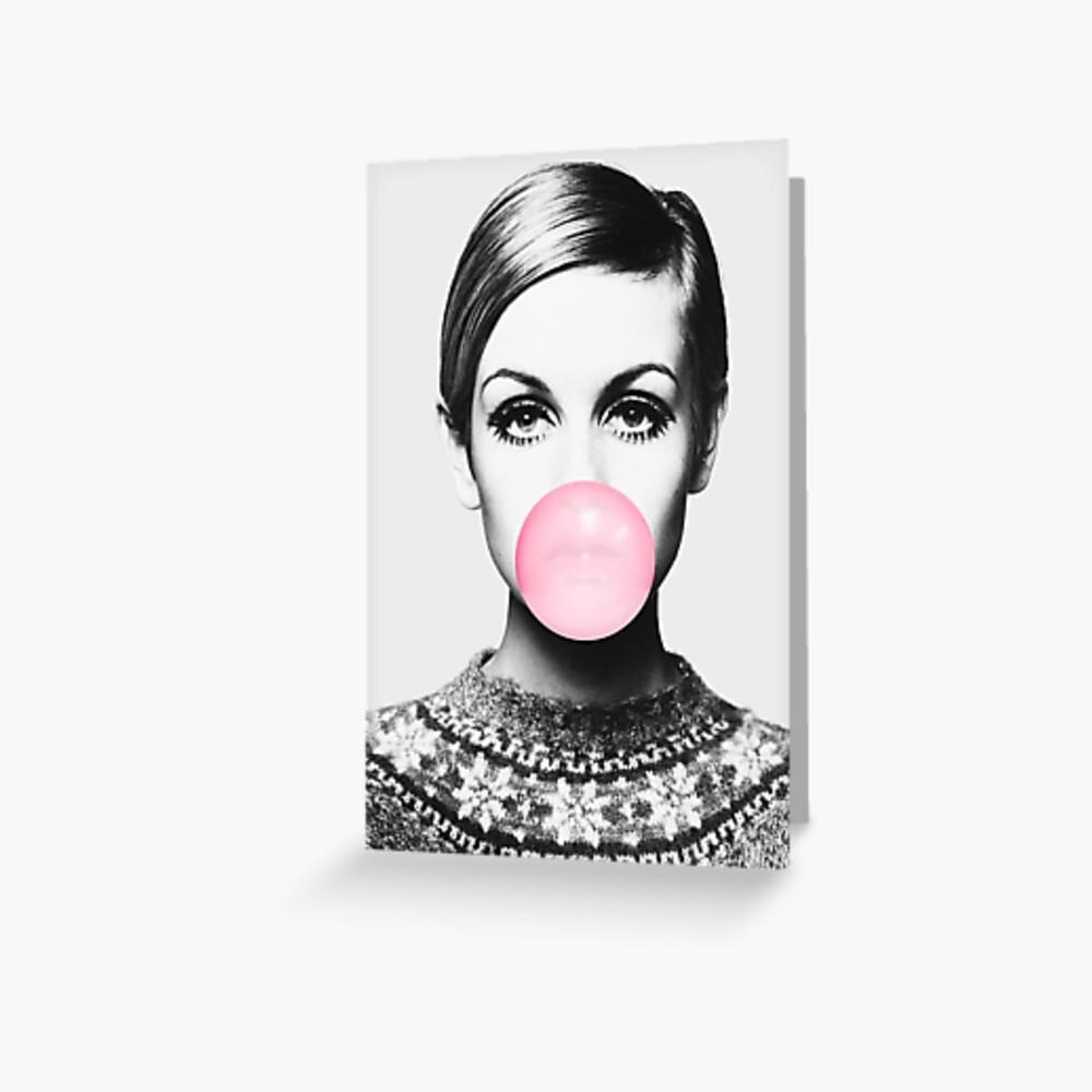 Twiggy print, celebrity, Scandinavian, Nordic, Trendy print, Styled, Scandinavian art, Modern art, Wall art, Print, Minimalistic, Modern Greeting Card