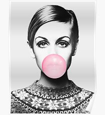 Twiggy print, celebrity, Scandinavian, Nordic, Trendy print, Styled, Scandinavian art, Modern art, Wall art, Print, Minimalistic, Modern Poster