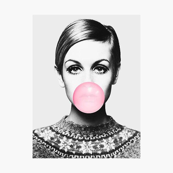 Twiggy print, celebrity, Scandinavian, Nordic, Trendy print, Styled, Scandinavian art, Modern art, Wall art, Print, Minimalistic, Modern Photographic Print