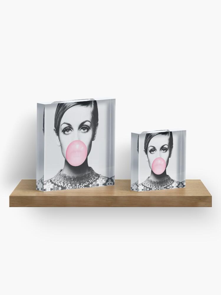 Alternate view of Twiggy print, celebrity, Scandinavian, Nordic, Trendy print, Styled, Scandinavian art, Modern art, Wall art, Print, Minimalistic, Modern Acrylic Block
