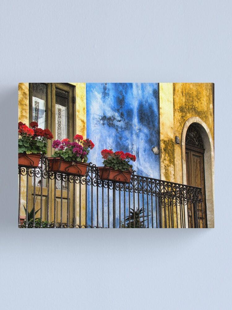 Alternate view of balcone fiorito Canvas Print