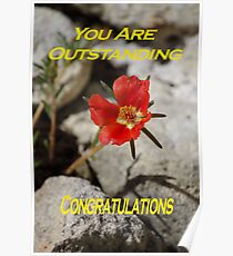 You Are Outstanding Poster