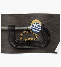 Greece coin is clamp pressure  Poster