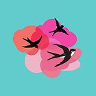 Spring swallows and clouds by Anna Lemos