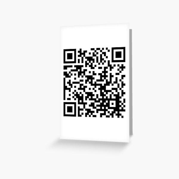 Rick Roll QR Code Greeting Card