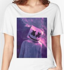 Marshmello Galaxy Purple Women's Relaxed Fit T-Shirt
