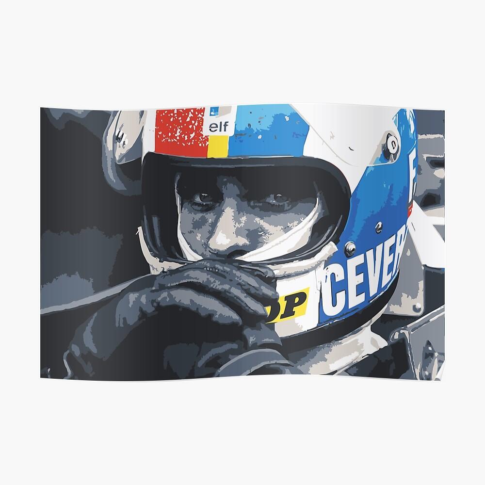 Francois Cevert Helm Poster