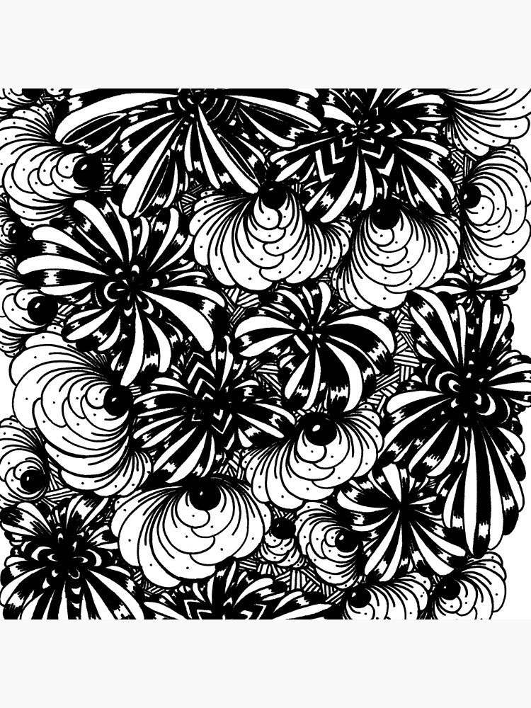 Zentangle Starfish-Fireworks-Engulfing-Petals by digitalartbynic