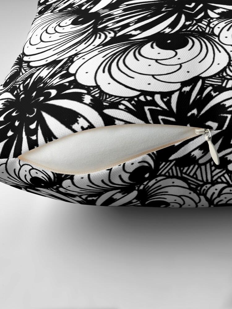 Alternate view of Zentangle Starfish-Fireworks-Engulfing-Petals Throw Pillow
