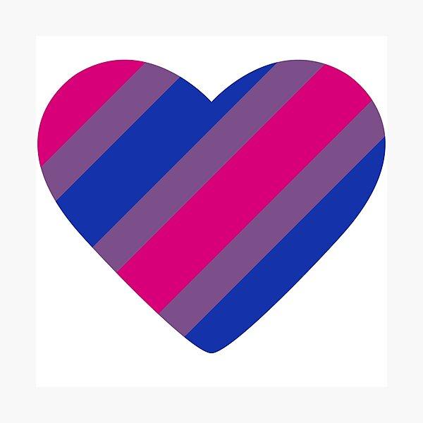Bisexual Pride Flag Stripes Photographic Print
