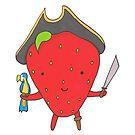 Pirate Strawberry and his Parrot by TakoraTakora