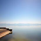 Stairs into the Lake.....Lake Geneva by Imi Koetz