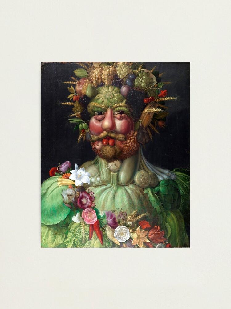 Giuseppe ARCIMBOLDO fine art CANVAS print HEAD WITH FRUIT BASKET