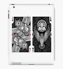 owl special poker cards artwork iPad Case/Skin