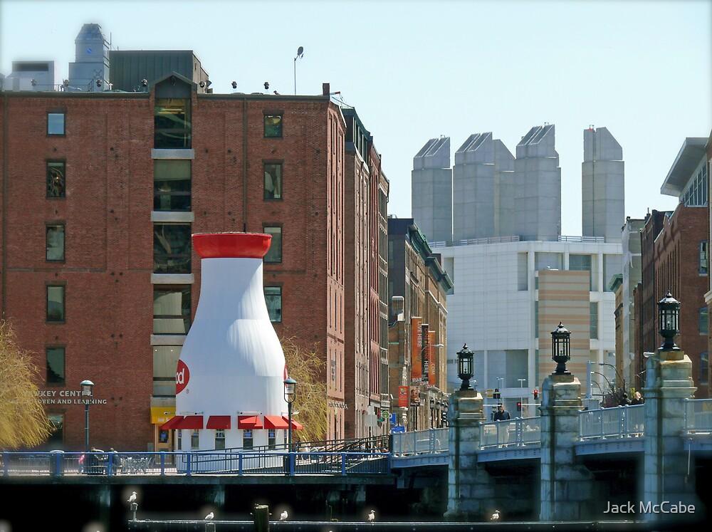 The Hood Milk Bottle, Boston Harbor, April in Boston Series 2009 by Jack McCabe