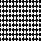 Black and White Argyle Pattern by ValeriesGallery