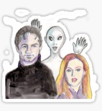 Mulder and Scully are Photobombed II Sticker