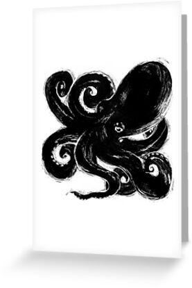 Inktopus - Sumi Octopus by Cori Redford