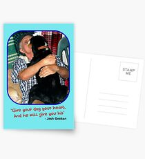"""""""Give Your Dog Your Heart"""" Postcards"""