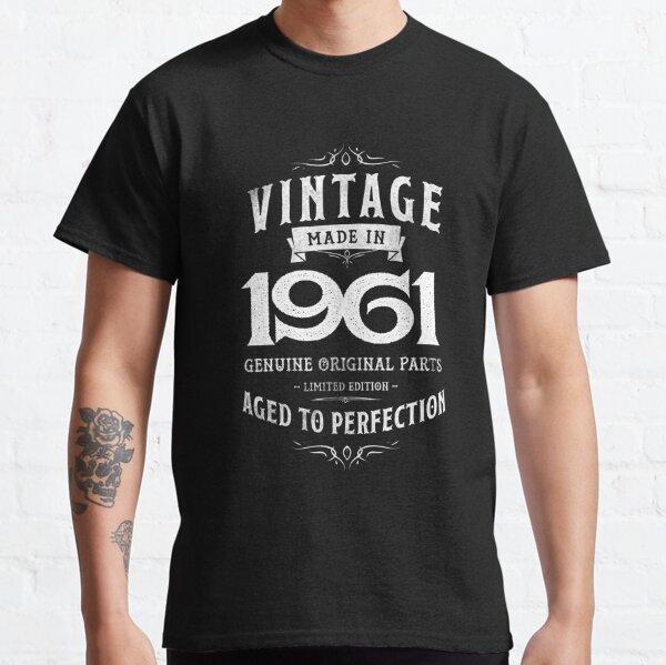 Perfection Birthday 1961 57th Men Women Camiseta vintage Camiseta clásica