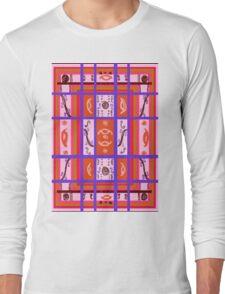 Curvy Plaid Abstract Feminine Folk Art by Kristie Hubler Long Sleeve T-Shirt