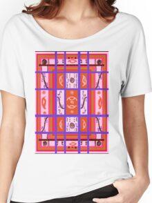 Curvy Plaid Abstract Feminine Folk Art by Kristie Hubler Women's Relaxed Fit T-Shirt