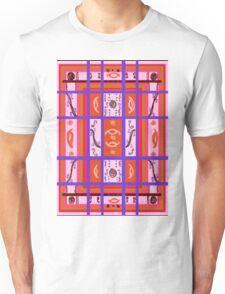 Curvy Plaid Abstract Feminine Folk Art by Kristie Hubler Unisex T-Shirt