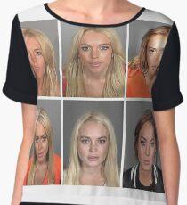 Lindsay Lohan Chiffon Top