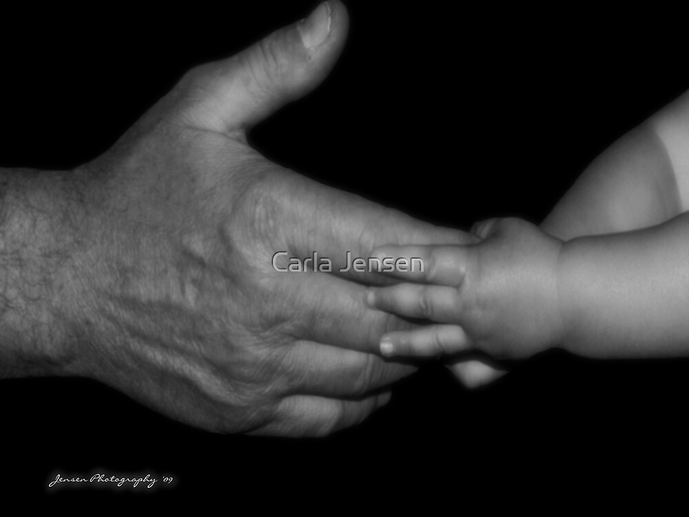 Two Generations Spanning The Hands Of Time  by Carla Jensen