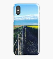 Country Fence through a Field iPhone Case/Skin