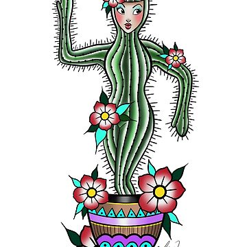 Cactus pinup  by KrissyTattoos03