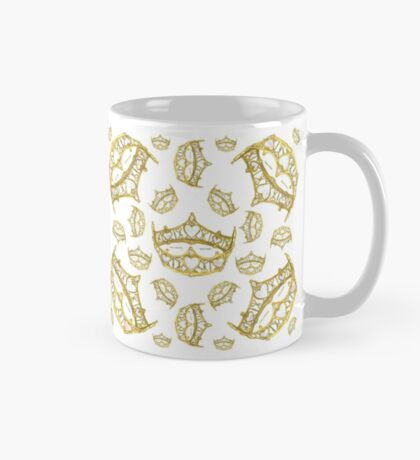 Queen of Hearts gold crown tiara tossed about by Kristie Hubler Mug