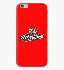 100 Thieves || white and black iPhone Case