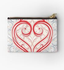 Heart-Shaped Lace Studio Pouch